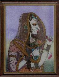 Mughal+Woman+Gemstone+Paintings