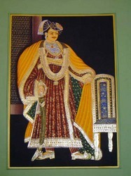 Rajasthani King Gold Painting