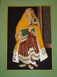 Rajasthani+Queen+Gold+Painting