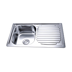 Single Bowl Kitchen Sink With Drain Board
