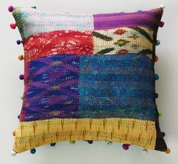 Home Decor Kantha Scarf Cushion Covers