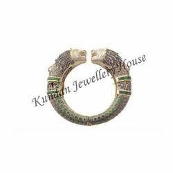 Hyderabadi Lion Bangle Diamond Studded
