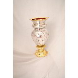 Golden Glass Flower Vase