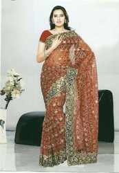 Embroidered Sarees For Ladies