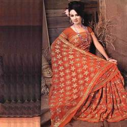 Georgette+Embroidered+Saree