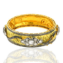 14k Gold Designer Bangle Jewelry