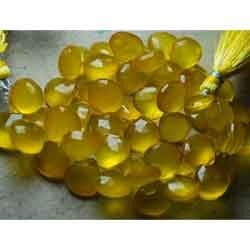 Yellow Chalcedony Faceted Briolettes