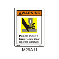 Safety Signs Pinch Point