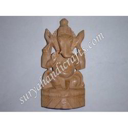 Wooden Ganesh Stand With Sitting