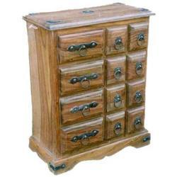 Iron Worked Chest of 8 Small & 4 Long Drawers
