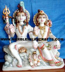 Marble Shankar Parvati Statues