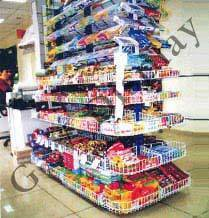 Checkout Counter Racks for Hyper Market