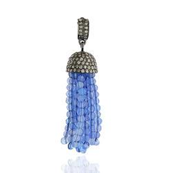 Gemstone Pave Diamond Pendant