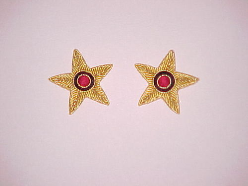 Hand Embroidered Collar Badges
