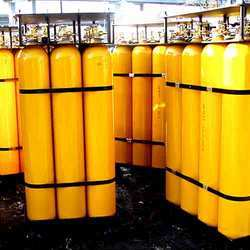 Empty Industrial Gas Cylinder