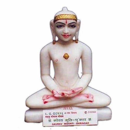 Marble Jain Mahavir Statues