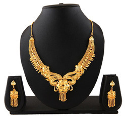 Indian Gold Plated Bridal Wear Necklace Jewellery
