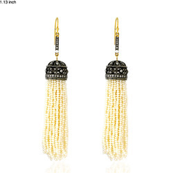 Natural Pearl Tassel Earrings