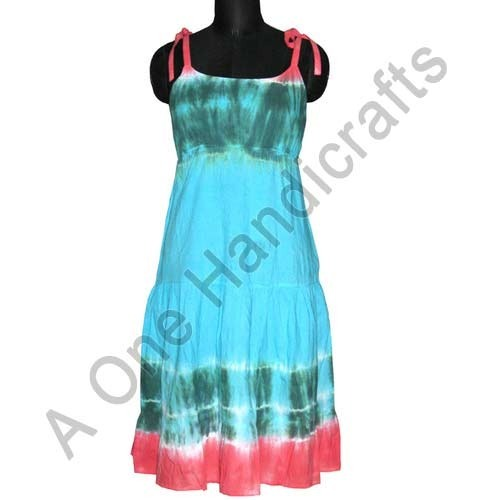 Hand Tie Dyed Cotton Dress