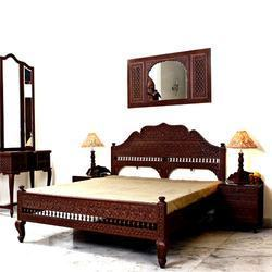 Carved Indian swings, Bedroom furniture