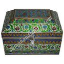 White Metal Meena Painting Jewellery Box