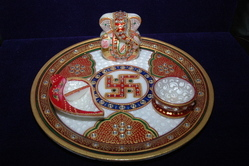 Marble Pooja Thali