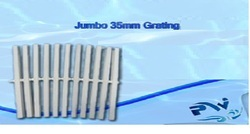 PVC White Swimming Pool Grating - Jumbo 35 MM