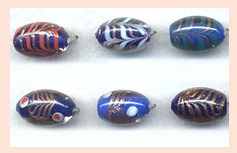 Oval Glass Beads