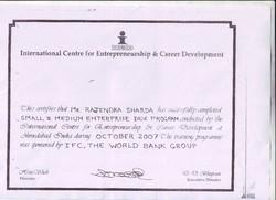 Certificate From International Centre For Entrepreneurship & Carrier Development
