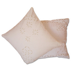 Applique White Cushion Covers