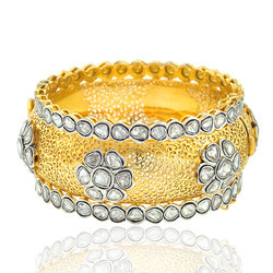 18k Gold Diamond Bangle Jewelry