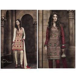 Full Embroidered Cotton Suit