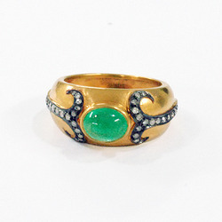 Emerald Band Rings