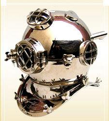 Divers Helmet Mark V-Chrome 1