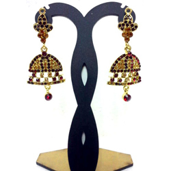 Oval Jhumka Earrings