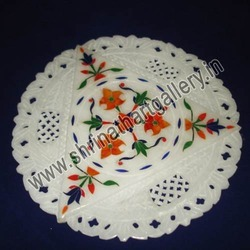 Marble Inlaid Plates