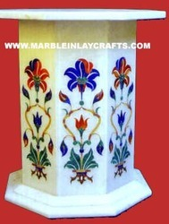 White Marble Table Stands