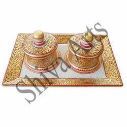 Marble Tray Set Full Gold