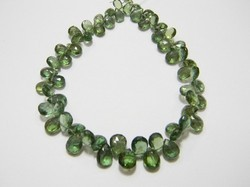 Green+Apatite+Faceted+Pear+Briolettes