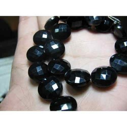 Black Onyx Faceted Coin
