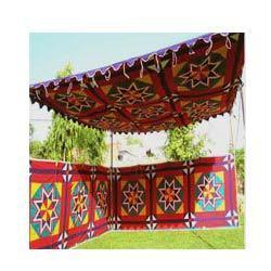 colourful shamiana tent