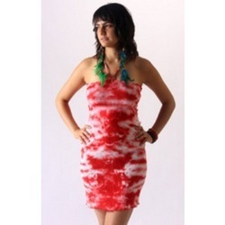 Cotton Tie And Dye Short Dress