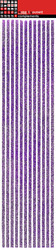 Stripes Purple Glitter