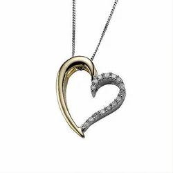 Beautiful Heart Diamond Necklace