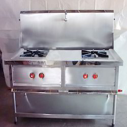 Two Burner Cooking Range with Splash