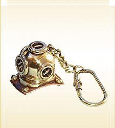 Nautical Key-Chain Divers Helmet