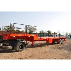 low bed trailer with boggie suspension