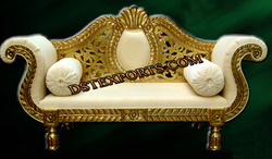 Asian Wedding Golden Brass Love Seater
