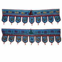 Decorative Embroidered Door Toran & Window Valance Topper