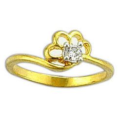 Fashion Ring with Zircons